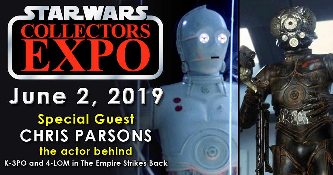 Meet Chris Parsons 4-LOM and K-3PO at Star Wars Collectors Expo 2019